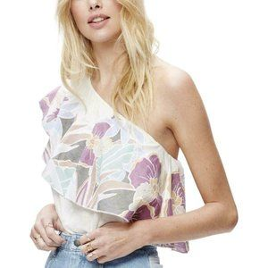 Free People Annka Bubble One-Shoulder Floral TopXS